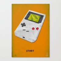 gameboy Canvas Prints featuring GameBoy by Vloh