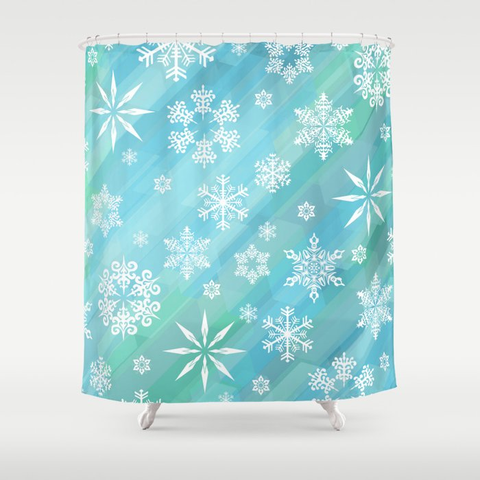 Snowflake Shower Curtain By Artistpride