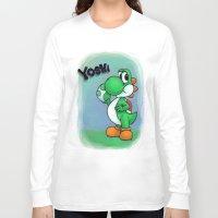 yoshi Long Sleeve T-shirts featuring Yoshi by belindazart