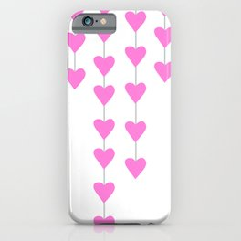 Pink Heart Strings iPhone Case
