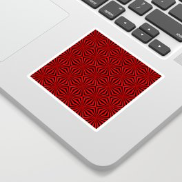 Red Abstract Modern Pattern Art Design Sticker