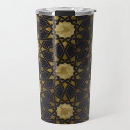 Islamic decorative pattern with golden artistic texture Travel Mug