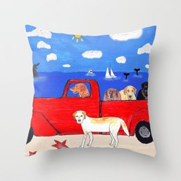 The Salty Dogs Throw Pillow