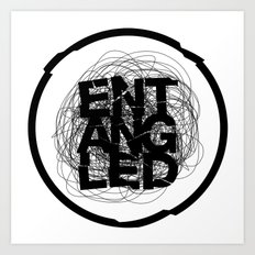 Entangled Logo Art Print