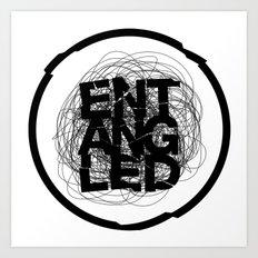 Entangled Logo Art Print