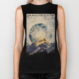 One mountain at a time Biker Tank