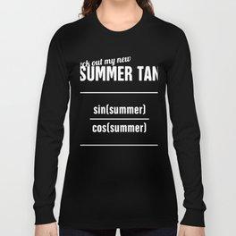 Summer Tan - Funny Statistics Teacher Design Long Sleeve T-shirt