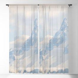 Mount Washington, Oregon Sheer Curtain