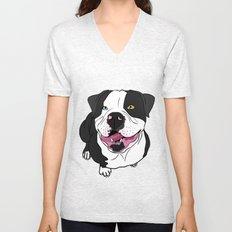 Bubba, the American Bulldog Unisex V-Neck