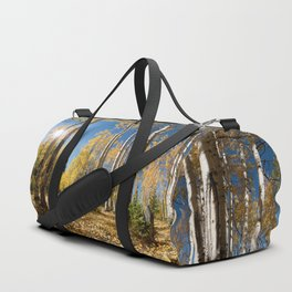 Crested Butte Colorado Fall Colors Panorama - 3 by OLena Art Duffle Bag