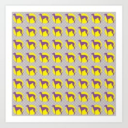 Italian Greyhound - Pattern One Art Print