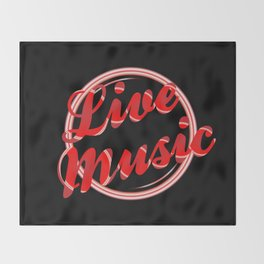 Live Music Florescent Light Throw Blanket