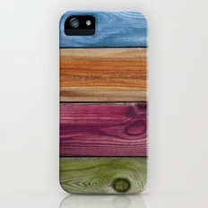 Wooden Rainbow Slim Case iPhone (5, 5s)