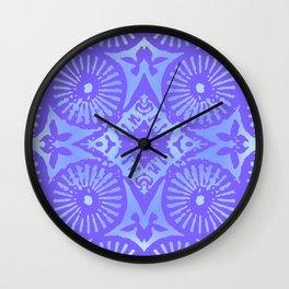 bowie: blue blue electric blue Wall Clock