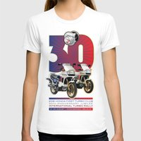 honda T-shirts featuring Honda First Turbo Club by Saddle Bums