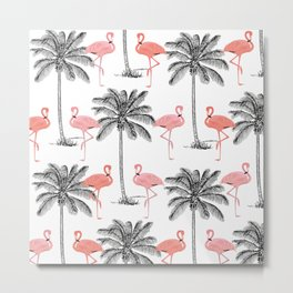 Ahh Flamingo Metal Print