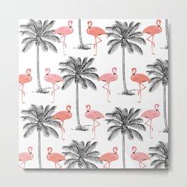 Ahh Flamingo Metal Print