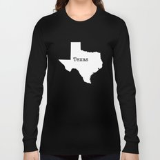 Texas State outline  Long Sleeve T-shirt