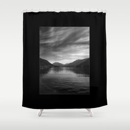 The eye at Lake Crescent Shower Curtain
