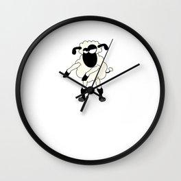 Floss Dance Move Sheep Wall Clock
