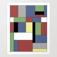 mondrian Art Prints featuring Mondrian #5 by Ron Trickett