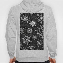 Gray Snowflakes Hoody