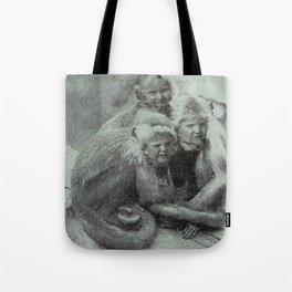 Monkey Children Tote Bag