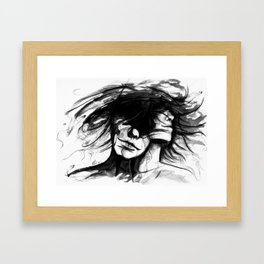 """""""Time is like the wind, it lifts the light and leaves the heavy"""" Framed Art Print"""