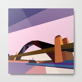 Geometric Harbour Bridge, Sydney Metal Print