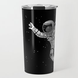 Astronaut in the outer space Travel Mug