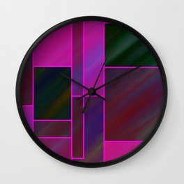 segmented (three) Wall Clock