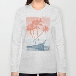 Shipwreck Palm trees Poster Long Sleeve T-shirt