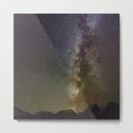 Watercolor Nightscape Milky Way from Storm Pass 02, Rocky Mountain National Park, CO Metal Print