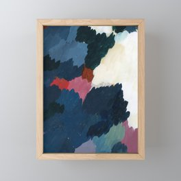 Abstract meditation forest 1 Framed Mini Art Print