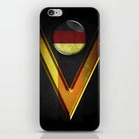 germany iPhone & iPod Skins featuring Germany by ilustrarte