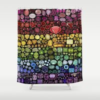 gem Shower Curtains featuring Gem Collection by Alisa Galitsyna