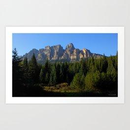 Castle Mountain - Banff - Canadian Rockies Art Print