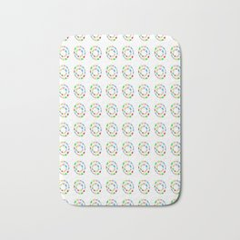 Circle and abstraction 11- blue abstract,geometric,geometrical,circle,sphere Bath Mat