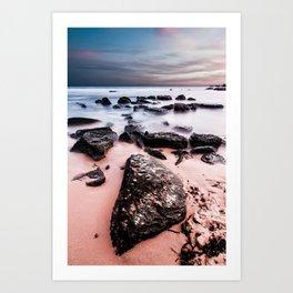 Beach Rocks 2 Art Print