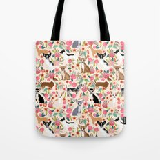Chihuahua florals cute pastel dog breed must have gifts for small dog owner dog person pet portraits Tote Bag