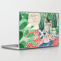 oscar wilde Laptop & iPad Skins featuring Mexican Princess thinks of Oscar Wilde by vebeche