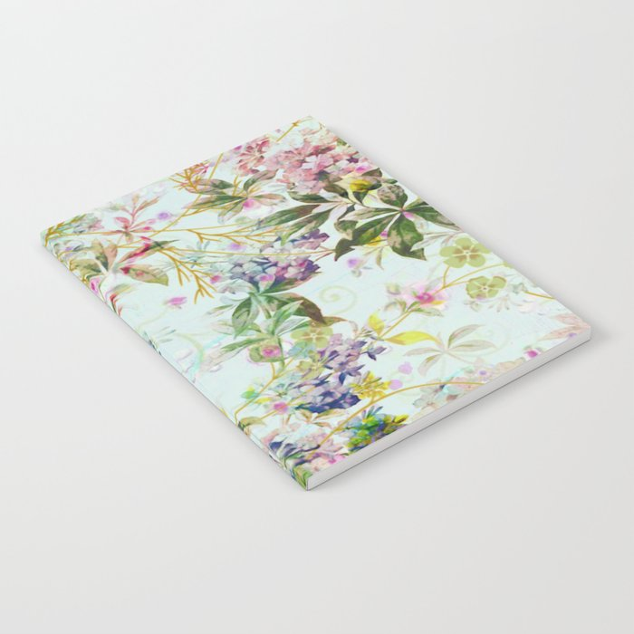 sweet floral in light blue Notebook