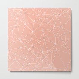 Millennial Pink Geometric Minimalist Pattern Metal Print