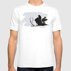 bedtime stories MEDIUM Mens Fitted Tee White