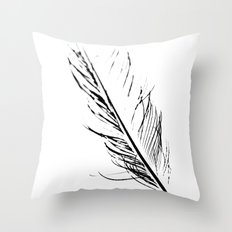 Peacock Feather 4 Throw Pillow