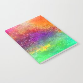 aa 2 colourful digital abstract Notebook