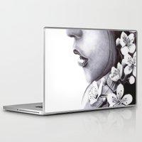 sakura Laptop & iPad Skins featuring Sakura by Nester Formentera