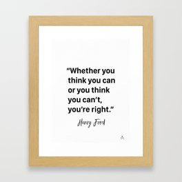 awesome Henry F. quote Framed Art Print