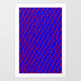 Blue/Red Art Print