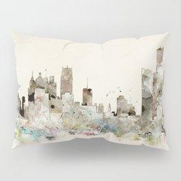 Detroit Michigan skyline Pillow Sham